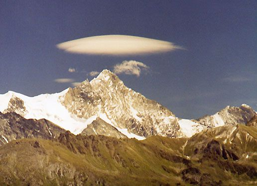 Lenticular cloud over the Swiss Alps